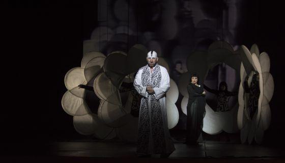 Un momento de los ensayos de la ópera 'Samson et Dalila'.
