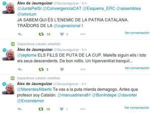 Imagen de los tweets del profesor De Jaureguizar