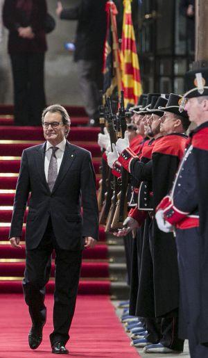 Artur Mas, el martes saliendo del Palau de la Generalitat.