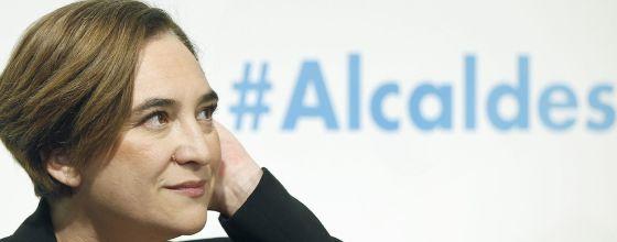 La alcaldesa de Barcelona, Ada Colau, pronunció este miércoles en Barcelona.