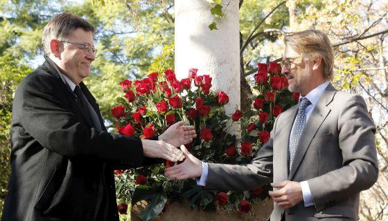 Puig con Manuel Broseta, hijo del profesor asesinado por ETA