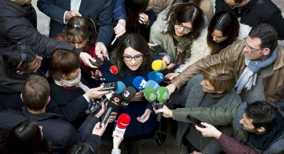 La vicepresidenta del Gobierno valenciano, Mònica Oltra