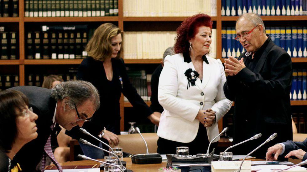 Consuelo Ciscar, exdirectora del IVAM, en el Consell Valencià de Cultura.
