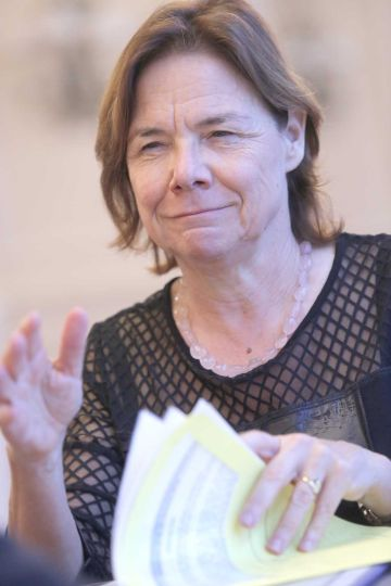 Martine Reicherts, durante la entrevista.