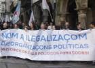 Protesta con apoyo de Anova y BNG por la ilegalización de Causa Galiza