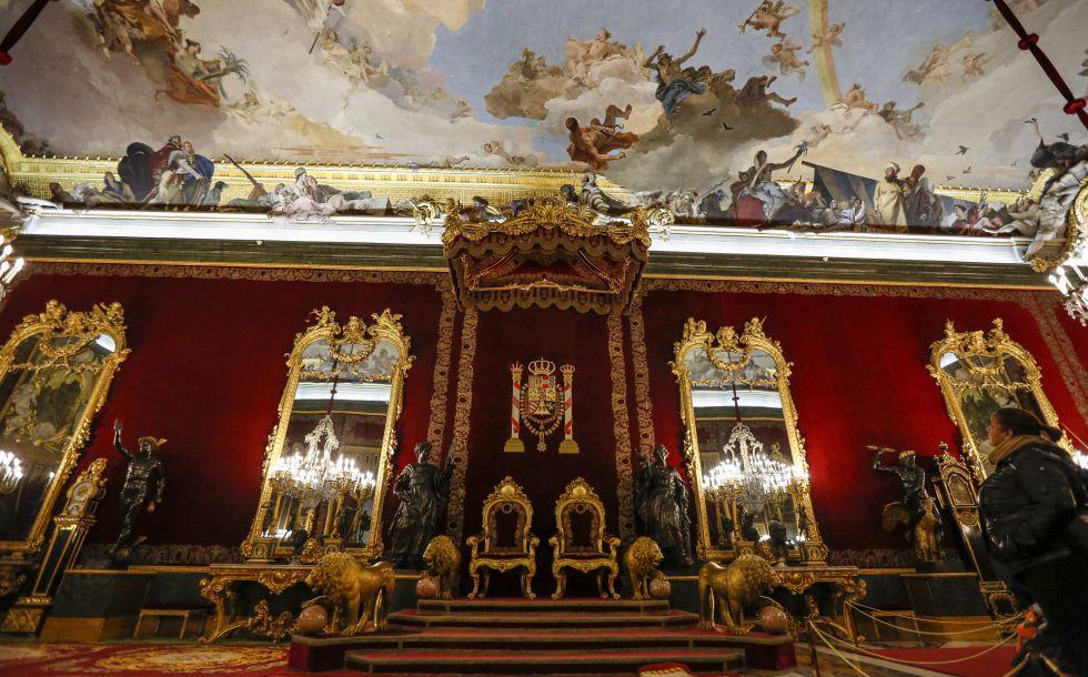 Salón del Trono del Palacio Real de Madrid.