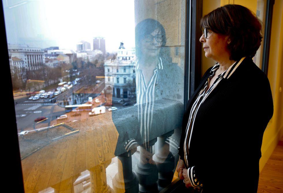 La concejal de Medio Ambiente y Movilidad, Inés Sabanés, durante la entrevista el pasado viernes en su despacho del Palacio de Cibeles.
