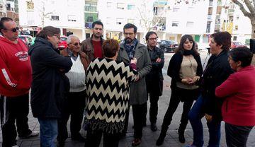Concejales socialistas y vecinos del Distrito Norte de Granada
