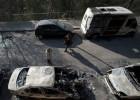 Un grupo anarquista admite haber quemado 40 coches en el Park Güell