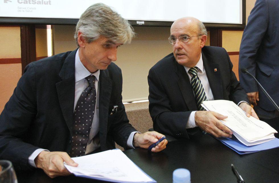 El director del AQuAS, Josep Maria Argimon y el ex consejero de Salud, Boi Ruiz