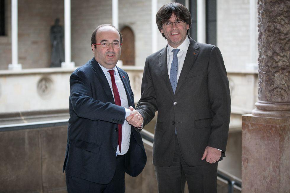 Miquel Iceta y Carles Puigemont