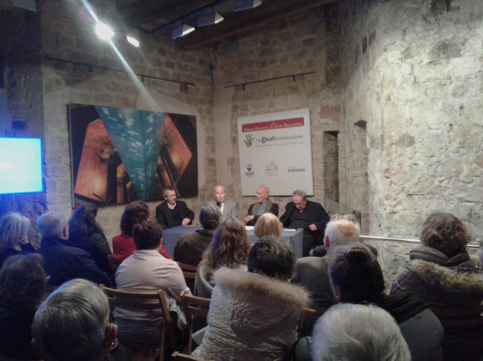 Imagen del acto de presentación del libro ayer en el Museo Diocesano de Barcelona.