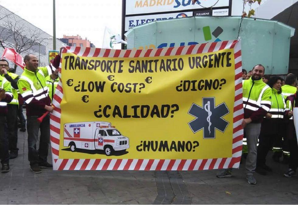 Trabajadores del servicio de ambulancias