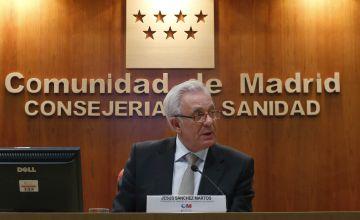 El consejero de Sanidad, Jesús Sánchez Martos.