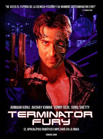 El cartel de 'Terminator Fury', versión india de la saga estadounidense.