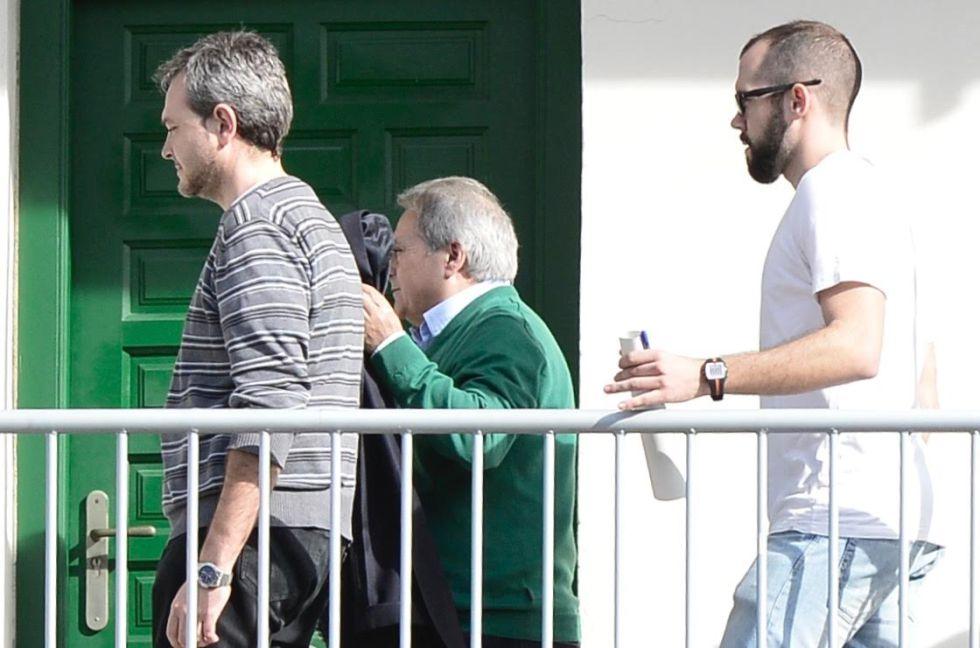 El expresidente de la Diputación de Valencia y del PP provincial Alfonso Rus, en el cuartel de la Guardia Civil donde estuvo detenido.