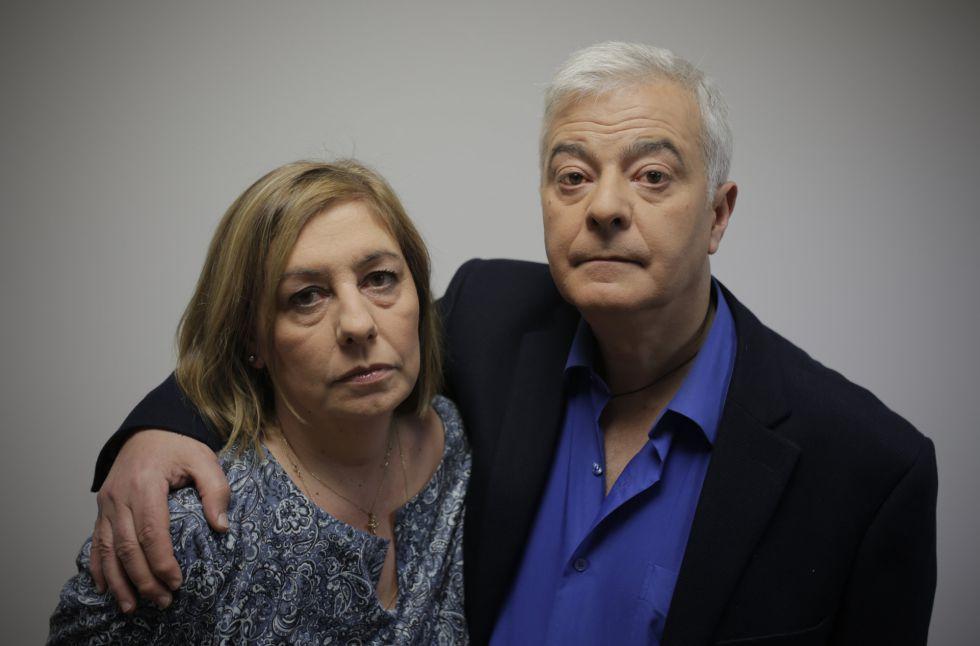 Los padres de Diego, Carmen González y Manuel González