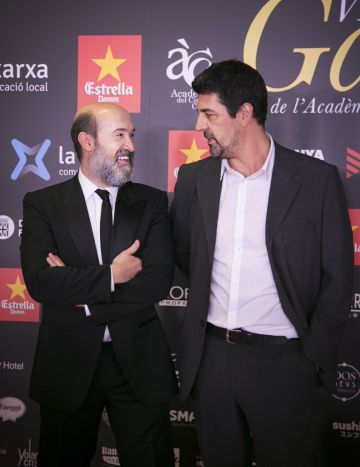 Javier Cámara y Cesc Gay, actor y director de 'Truman', antes de la ceremonia.