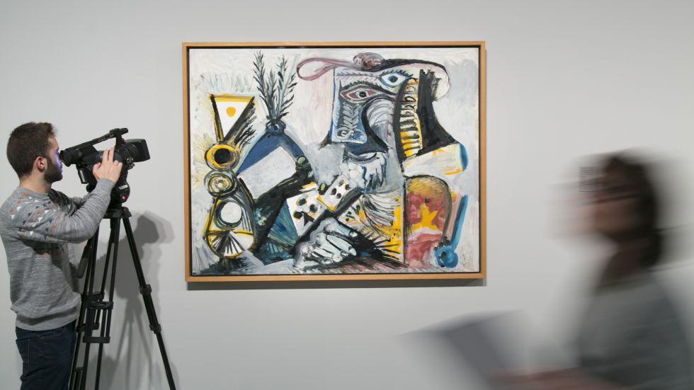 'El jugador de cartas II', una de las tres obras que el Museo de Arte Moderno de Dinamarca ha prestado a Barcelona temporalmente.