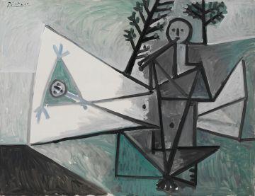 'Mujer y tocador de aulos II', de Picasso.