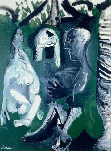 'Desayuno en la hierba', pintado por Picasso en 1961.