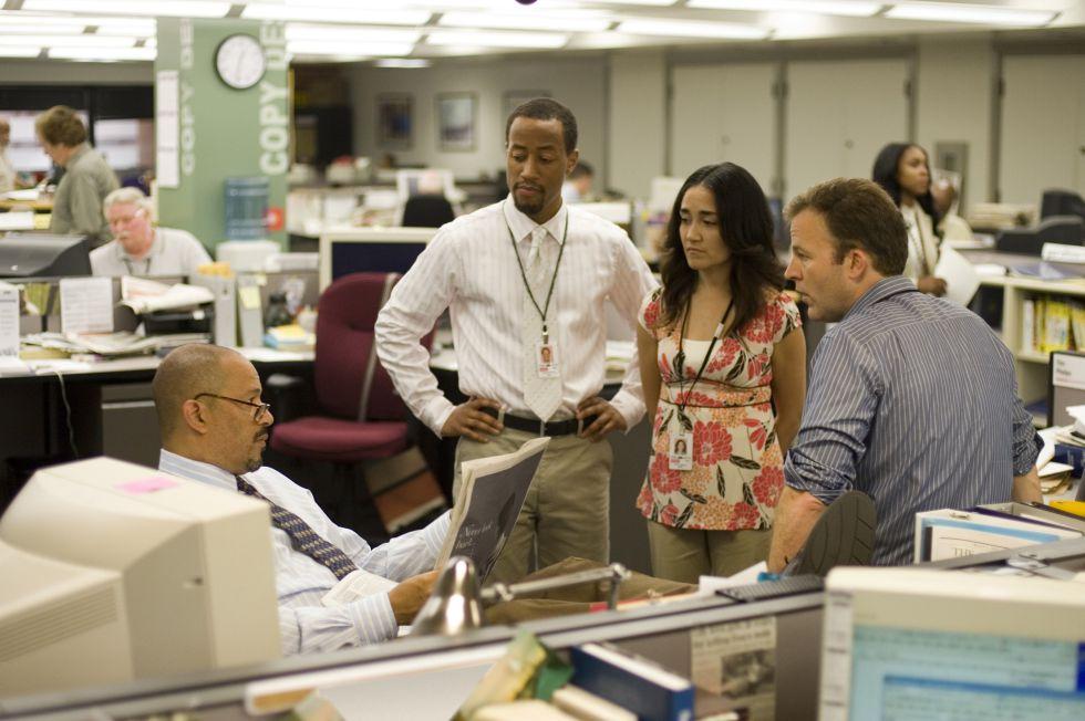Una imagen de la redacción del 'The Baltimore Sun' en la quinta temporada de la serie televisiva 'The Wire'.