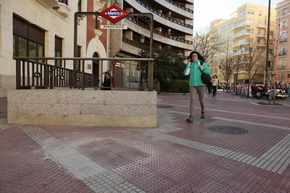 Zona de la glorieta de Rubén Darío en la que se encontraba el monolito de homenaje a Enrique de la Mata.