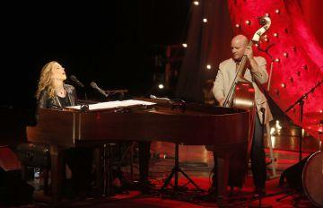 Diana Krall, durante su concierto en el Jazzaldia de 2013.