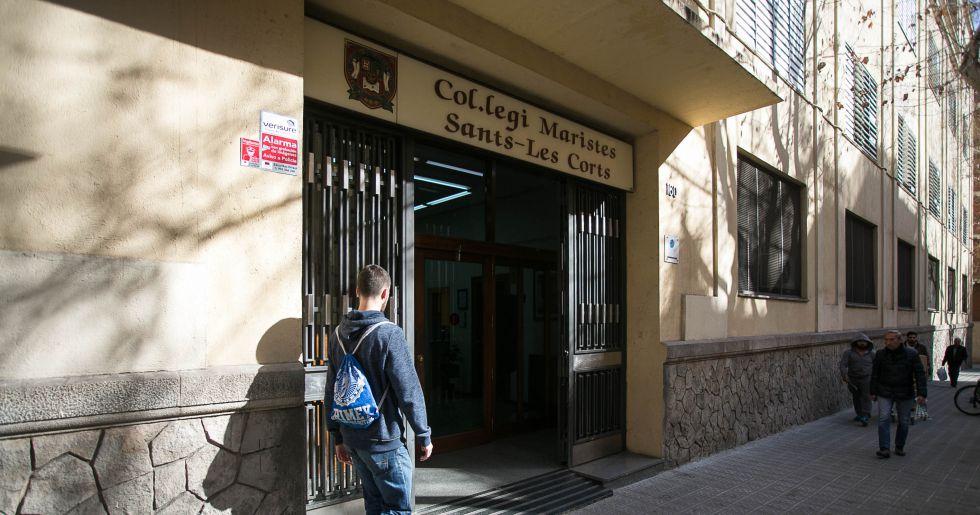 Entrada al Colegio Maristas de Sants-Les Corts.