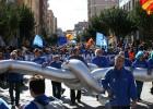 La manifestación de este domingo en Amposta.