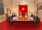 Los miembros de los Gobierno balear y valenciano durante el encuentro bilateral sobre financiación autonómica.