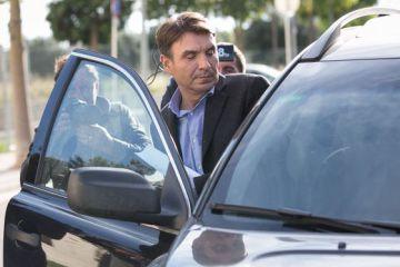 Josep Antoni Rosell, exdirector general de Infraestructures, el día que salió de prisión.