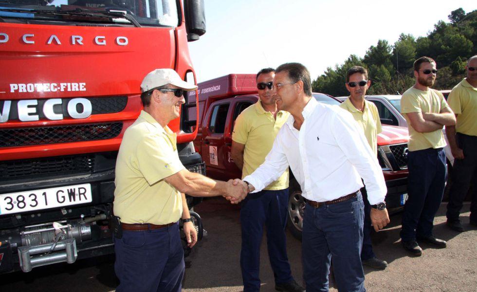 Castellano, exdelegado del Gobierno en Valencia, en un operativo antiincendios.