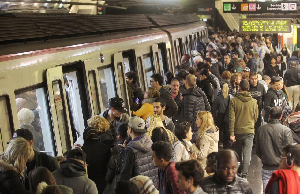 La huelga de Metro provocó retrasos de hasta 40 minuto el 2 de febrero.