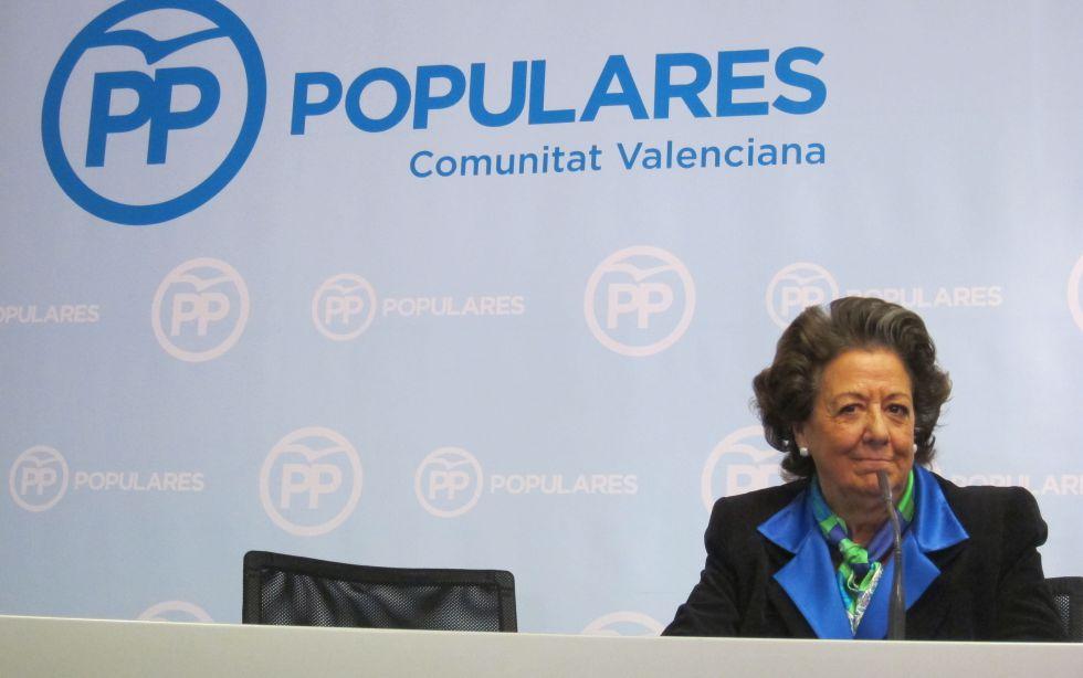 La senadora y exalcaldesa de Valencia Rita Barberá el pasado enero.