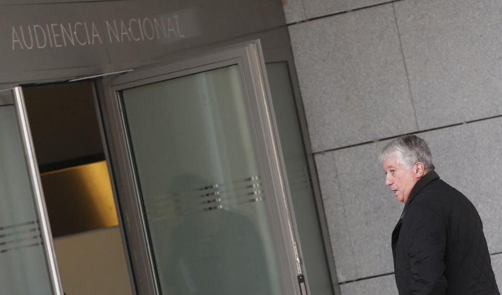 El expresidente de la patronal madrileña CEIM y exconsejero de Caja Madrid Arturo Fernández, a su llegada la Audiencia Nacional el pasado miércoles.
