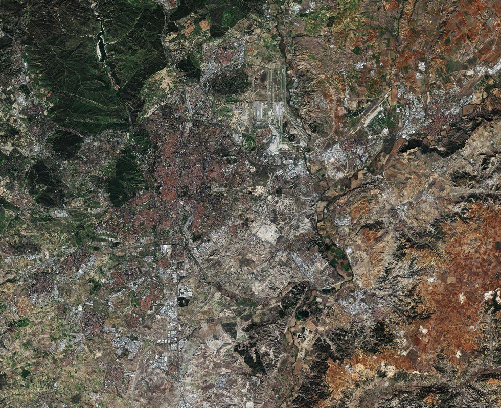Madrid, en una imagen tomada en noviembre de 2015 por un satélite de la ESA.