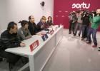 Pernando Barrena, en el centro, en una comparecencia con otros representantes de la izquierda 'abertzale'.