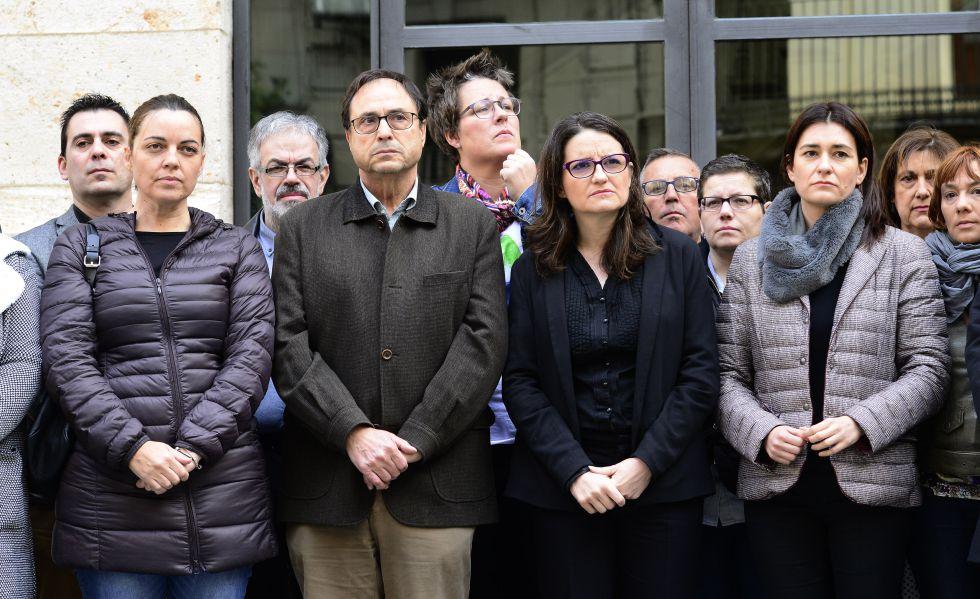 Concentración del Consell para condenar la última gresión machista.