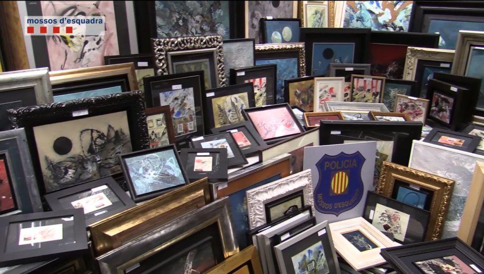 Los Mossos interceptaron más de un centenar de obras falsificadas