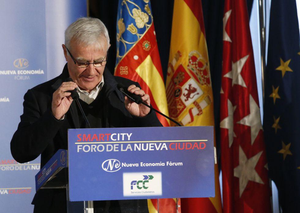 """El alcalde de Valencia, Joan Ribó, ha protagonizado esta mañana en Madrid un desayuno informativo del """"Smartcity. Foro de la Nueva Ciudad""""."""