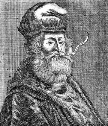 Ramon Llull, en un grabado del siglo XVII.