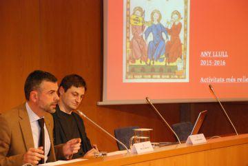 Santi Vila y Joan Santanach, durante la presentación del Any Llull.