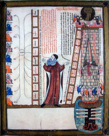 Miniatura representando a Ramon Llull.