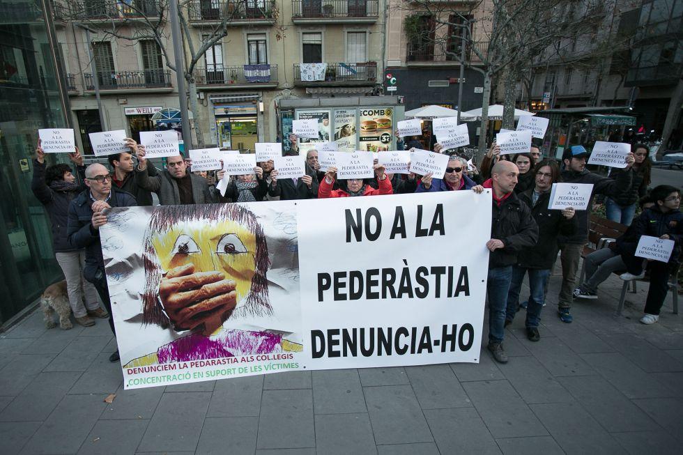 Manifestación contra la pederastia el 19 de febrero en Barcelona.