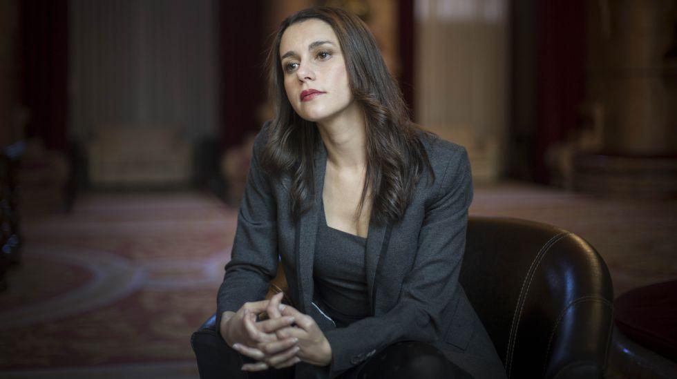 Inés Arrimadas, líder de Ciudadanos en Cataluña, en el Parlament.