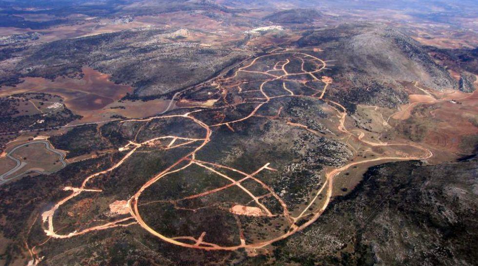 Vista aérea de Los Merinos Norte, en Ronda.