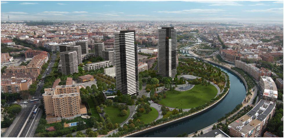 Proyección elaborada por el anterior gobierno municipal (PP) del plan urbanístico aprobado en 2014 para el ámbito de la Operación Calderón.