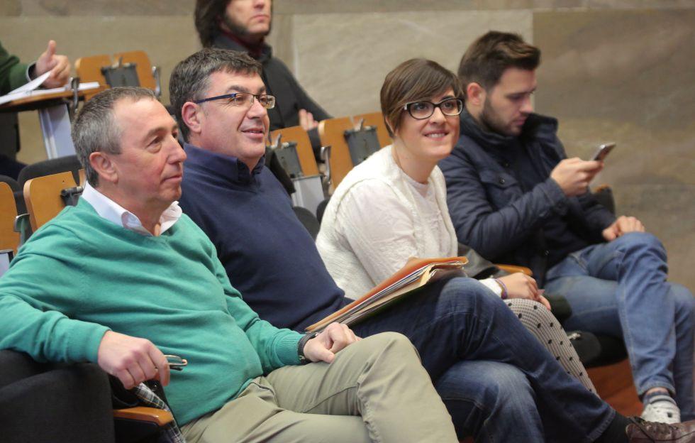 Joan Baldoví, a la izquierda, y Enric Morera, dirigentes del Bloc.