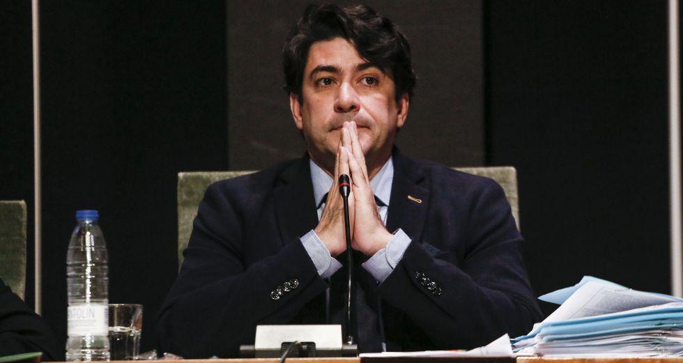 David Perez alcalde de Alcorcón, ayer en el pleno el Ayuntamiento.
